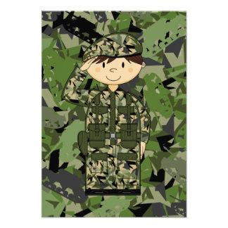 British Army Soldier RSVP Card Custom Invites