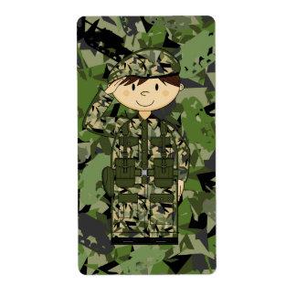 British Army Soldier Sticker Label