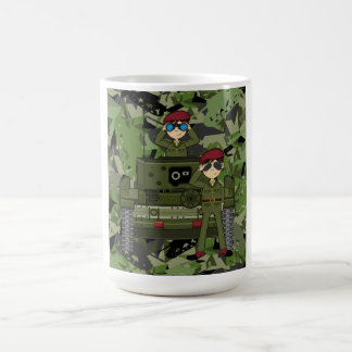 British Army Soldiers and Tank Coffee Mug