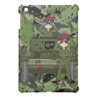 British Army Soldiers and Tank ipad Case