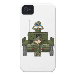 British Army Soldiers and Tank iphone Case iPhone 4 Covers