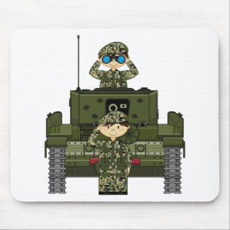 British Army Soldiers and Tank Mousepad