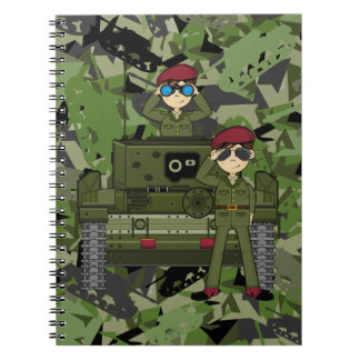 British Army Soldiers and Tank Notebook