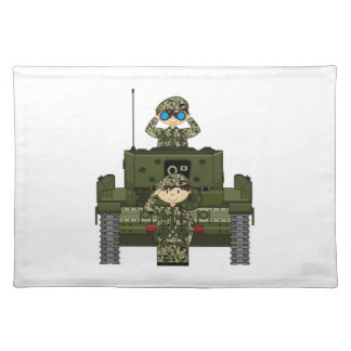 British Army Soldiers and Tank Placemat
