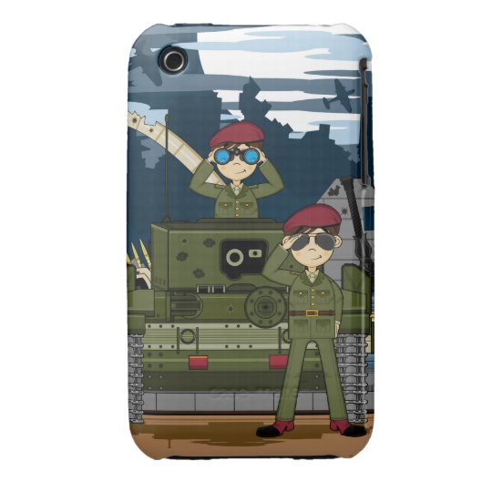 British Army Soldiers and Tank Scene iphone Case
