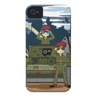 British Army Soldiers and Tank Scene iphone Case iPhone 4 Case