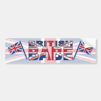 British Babe Bumper Sticker