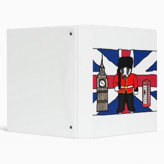 British Badger Big Ben Phone Booth Cartoon Binder