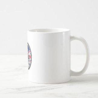 British Bagpiper Union Jack Flag Icon Coffee Mug