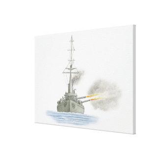 British battle cruiser canvas print