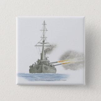 British battle cruiser pinback button