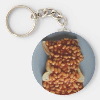 British Beans on Toast Food Joke Gift for Expat UK Basic Round Button Keychain