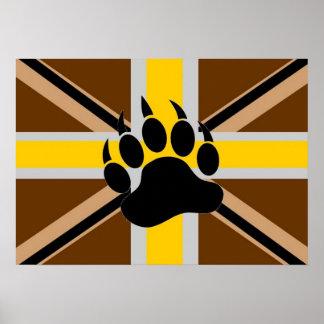 British Bear Pride Flag Poster