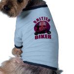 British Biker Sexy Lady Dog T-shirt