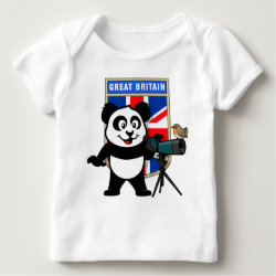 Baby Fine Jersey T-Shirt with British Birding Panda design