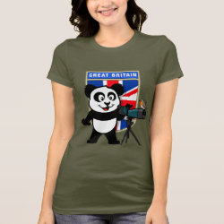 Women's Bella Jersey T-Shirt with British Birding Panda design