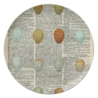British Birds Eggs Plate