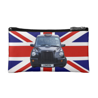 British Black Taxi Cab Cosmetic Bag