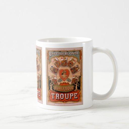 British Blonde Burlesque, 'Troupe' Retro Theater Classic White Coffee Mug