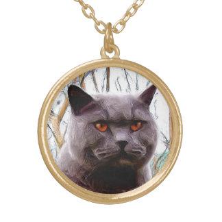 British blue cat necklace