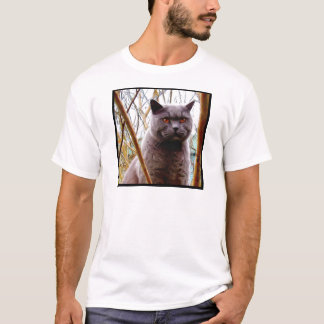 British Blue Cat T-shirt