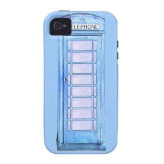 British blue phone booth iphone case Case-Mate iPhone 4 case