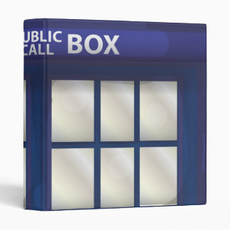 British Blue Police Box Binder