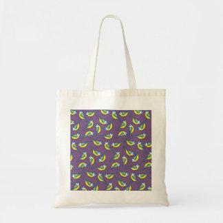 British Bluetit Bird on Purple Tote Bag