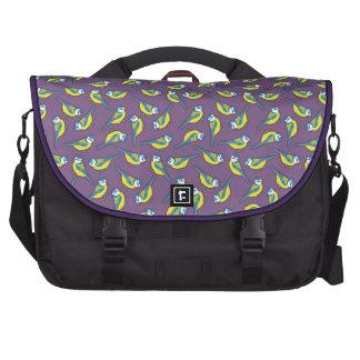 British Bluetit Bird on Purple Laptop Commuter Bag