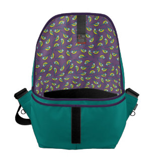 British Bluetit Bird on Purple Messenger Bags