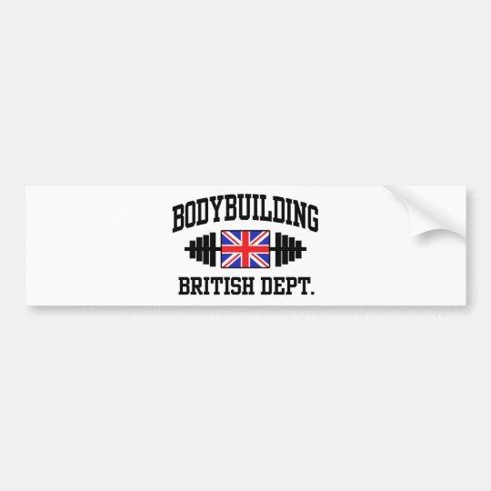 British Bodybuilder Bumper Sticker
