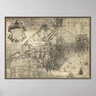 BRITISH BOSTON MAP  1769 POSTERS
