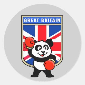 British Boxing Panda Sticker