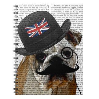 British Bulldog and Bowler Hat Notebook