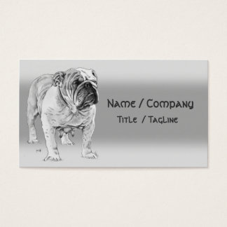 British Bulldog Business Card