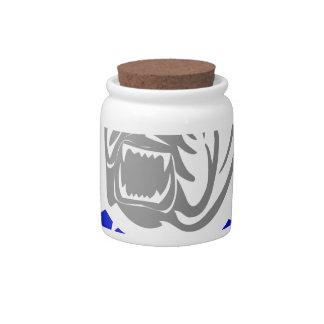 British Bulldog Candy Jars