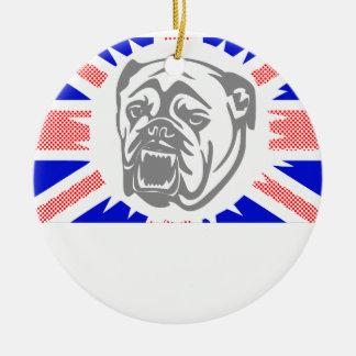British Bulldog Ceramic Ornament