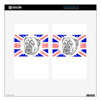 British Bulldog Decals For Kindle Fire