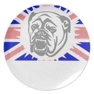 British Bulldog Melamine Plate
