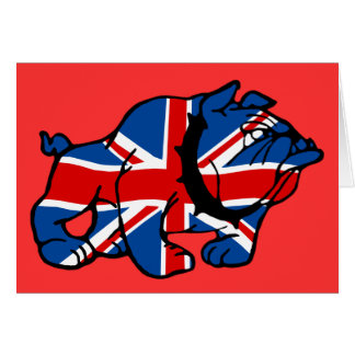British Bulldog patriotic British Greeting Cards