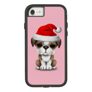 British Bulldog Puppy Dog Wearing a Santa Hat Case-Mate Tough Extreme iPhone 8/7 Case