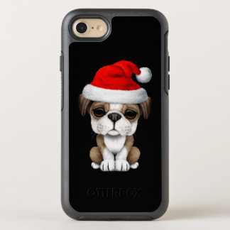 British Bulldog Puppy Dog Wearing a Santa Hat OtterBox Symmetry iPhone 8/7 Case