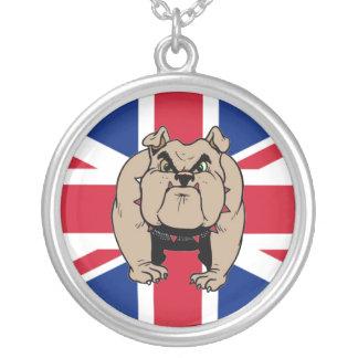 british bulldog round necklace
