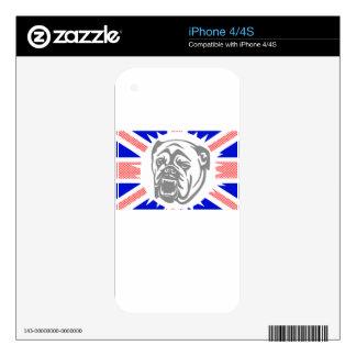 British Bulldog Skin For iPhone 4