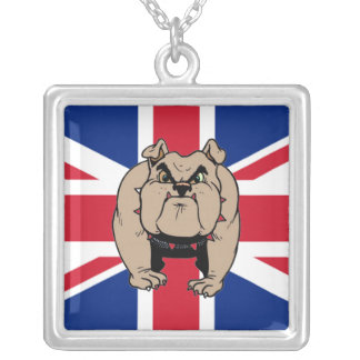 british bulldog square necklace