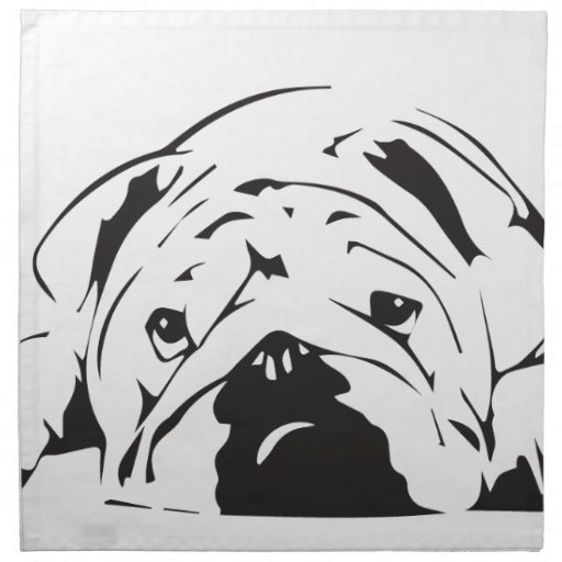 bulldog stencil british bulldog stencil printed napkins zazzle 4244