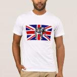 British Bulldog Union Jack UK flag bull dog T-Shirt
