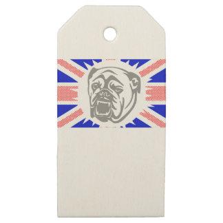 British Bulldog Wooden Gift Tags