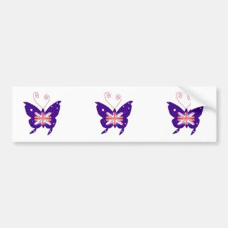 British Butterfly Diva Bumper Sticker