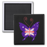 British Butterfly Diva magnet